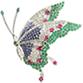 蝶モチーフマルチカラーブローチ