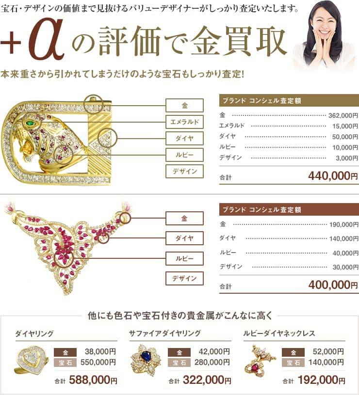 宝石・デザインの価値まで見抜けるコンシェルジュがしっかり査定いたします。