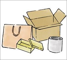 梱包材を用意する