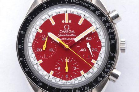 オメガ スピードマスター ミハエルシューマッハ 3510.61 58691420 SS/AT 赤文字盤